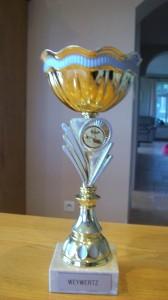 Eerste beker gewonnen op de show in Rekem (Oktober 2013) met een chinchilla ram. De tweede beste hangoor.